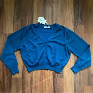 NWT Blue button up cardigan sweater